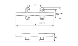 クリート■表面処理(MMステン)■材質(ステンレス)■規格(KT-13)■入数1