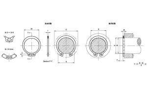 C形止め輪(軸用・IWT(磐田規■材質(鉄)■規格(IWTG-22)■入数1000
