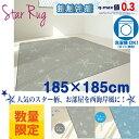 【夏物在庫処分】軽量涼感ラグスター冷感カーペット 185x185cm(約2.2畳用)正方形 涼感 ひんやり