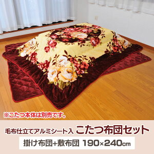 【送料無料】毛布仕立てアルミシート入こたつ布団セットTAN-659【TD】