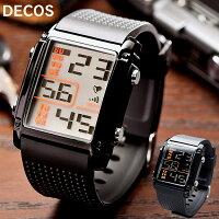 デジタルウォッチ腕時計メンズレディースDECOS