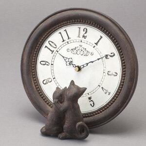 置き時計 猫の置き時計 置時計アンティーク時計 インテリア雑貨ねこの時計 猫の時計 ねこ時計 …