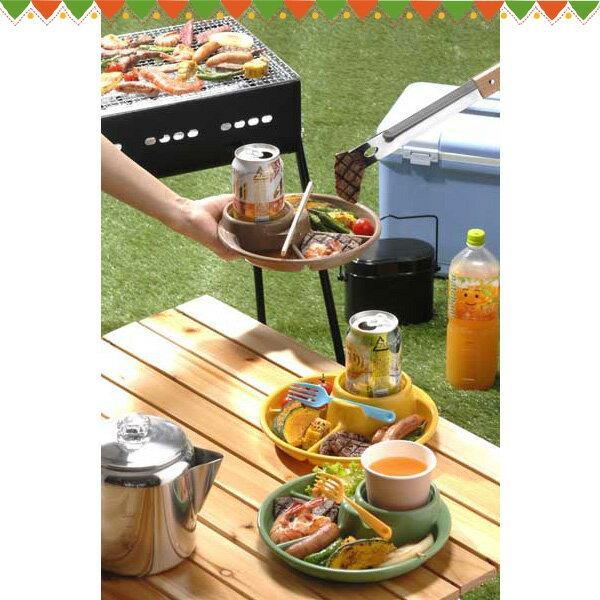 バーベキューディッシュ 3色組×4セット 1424 イノマタ BBQ 取り分け皿 トレー