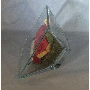 Bliss&HillグラスフラワーSサイズ【JFS-RK】ミニ胡蝶蘭・バラ・ミニバラ・かすみ草W16.7H16.7D9.3cm【日本製】