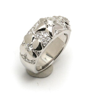 [Limited 5% OFF!] [7/3 7/10] Chanel CHANEL Three Symbol Ring #15 No. 15 Star Camellia Clover 750WG/Diamond [Used]