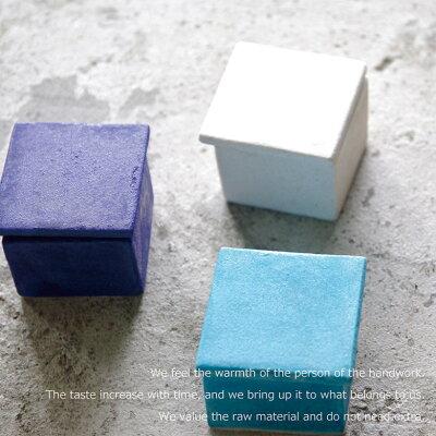 収納ボックス|小物入れ|小物ボックスケース|ジュエリー|宝石箱|ネックレス|ピアス|指輪ブルーポ...