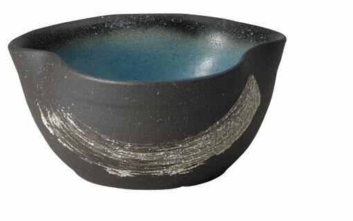 smtb-kd 青釉刷毛目三方曲めだか鉢水槽屋外用 信楽焼  陶器  特価  543-03
