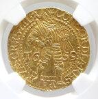 オランダ ZEELANDゼーラント州 2ダカット金貨 1659年 NGC【AU53】