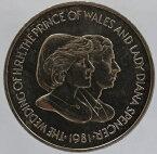 英領フォークランド諸島 チャールズ皇太子&ダイアナ妃 ご成婚記念 50ペンス貨 1981年