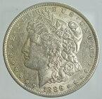アメリカ モルガン1ドル銀貨 1886年 美品+