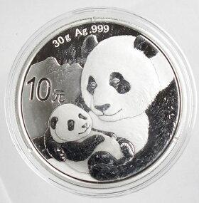 中国パンダ10元銀貨1オンス2019年未使用