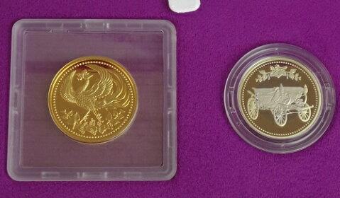 天皇陛下御在位30年記念1万円金貨・500円白銅貨2点セット平成31年(2019)