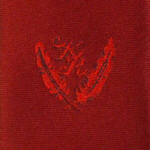 KURI-ORI[クリオリ]制服スクールネクタイKRN1エンジ無地男女兼用小剣先刺繍入り