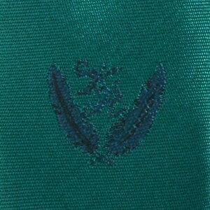KURI-ORI[クリオリ]制服スクールネクタイKRN5緑・グリーン無地男女兼用小剣先刺繍入り