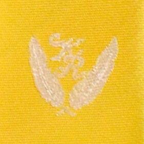 KURI-ORI[クリオリ]制服スクールネクタイKRN6黄色・イエロー無地男女兼用小剣先刺繍入り