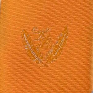 KURI-ORI[クリオリ]制服スクールネクタイKRN7オレンジ無地男女兼用小剣先刺繍入り