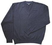 【KURI-ORI】クリオリウール混セーター・紺