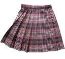 【日本製】KURI-ORI★クリオリ W72丈42 サマースカートSKR307 ピンク×紺・白制服プリーツスカート
