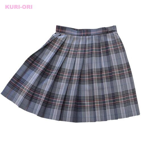 KURI-ORI★クリオリW60丈48 スリーシーズンスカートKR341グレー・紺ピンク制服プリーツ...