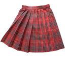 【SALE!!40%OFF!!】KURI-ORI★クリオリウエスト60・63・72cm スカート丈48cm ひざ上丈 スリーシーズンスカートKR357 赤チェック制服プリーツスカート