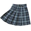 【日本製】【送料無料】KURI-ORI★クリオリ W85丈54 スリーシーズンスカートKR372 紺グリーン白制服プリーツスカート