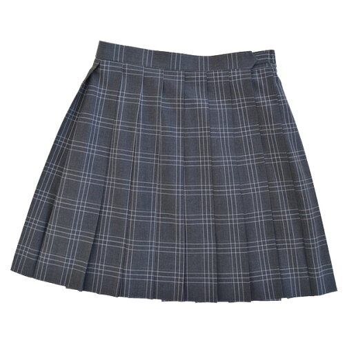KURI-ORI★クリオリ W60丈48 サマースカートSKR107 グレーチェック白ライン制服プリー...