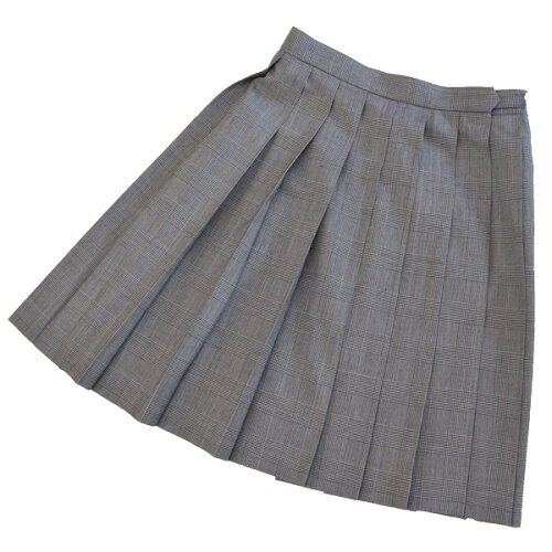 KURI-ORI★クリオリ W80丈48 サマースカートSKR62シンプルグレンチェック制服プリーツ...