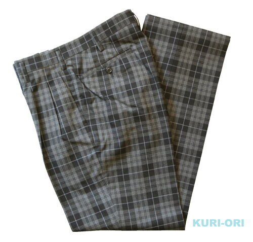 KURI-ORI★クリオリSKRB131S2W67〜W88サマースラックスモノトーンチェックスリムシルエット ツー...
