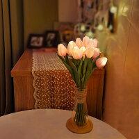 LEDフラワーライト チューリップ 12本セット 花束 ブーケライト フラワーブーケ タイマーあり イルミネーションライト 暖色 間接照明 プレゼント 母の日 誕生日