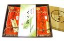 ギフトH【送料無料】極上栗蒸羊羹2本+ぐり茶【楽ギフ_のし宛書】