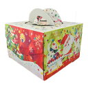栗の実で買える「クリスマスケーキ用 箱 ダンスサンタ150H 6号」の画像です。価格は197円になります。