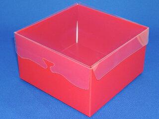 プチギフト レッド 1個 洋菓子 箱 ボックス 激安 ラッピング ラッピング用品 おしゃれ かわいい バレンタイン 手作り キット 友チョコ 義理チョコ ファミチョコ