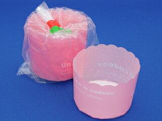 マフィンカップ カラー ピンク 5枚入 バレンタイン ホワイトデー 手作り キット 友チョコ 義理チョコ ファミチョコ