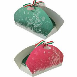 クリスマスケーキ用 箱 スノーフレーク ブッシュドノエル ロールケーキ シュトーレン