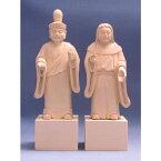 木彫仏像/伊豆山権現(男神24cm・女神22cm)一組桧木