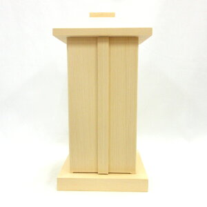 木製仏具 白木厨子 内寸W12*D12*H26cm 桧木 お厨子
