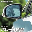 【12月下旬入荷予定】 ブルーミラー スズキ パレットSW MK21S...