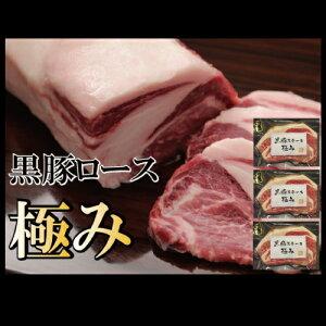 黒豚 豚肉 ぶた 極み 200g ステーキ トンカツ 3袋セット nk-rosu3-c1