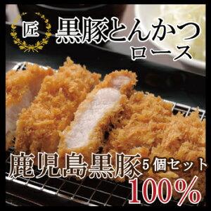 【ロースカツ5袋セット】【豚肉】 黒豚 とんかつ ロース トンカツ 惣菜 セット 鹿児島 (油…