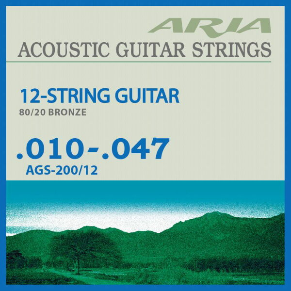 AriaproIIAGS-200/1212String(10-47)《12弦アコースティックギター弦》 ネコポス  ONLINE