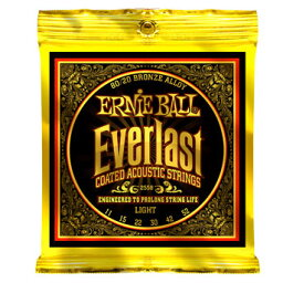 ERNIE BALL #2558 Everlast Coated 80/20 Bronze Alloy Acoustic Strings Light (11-52)《アコースティックギター弦》 アーニーボール/エヴァーラスト 【ネコポス】(ご予約受付中)【ONLINE STORE】