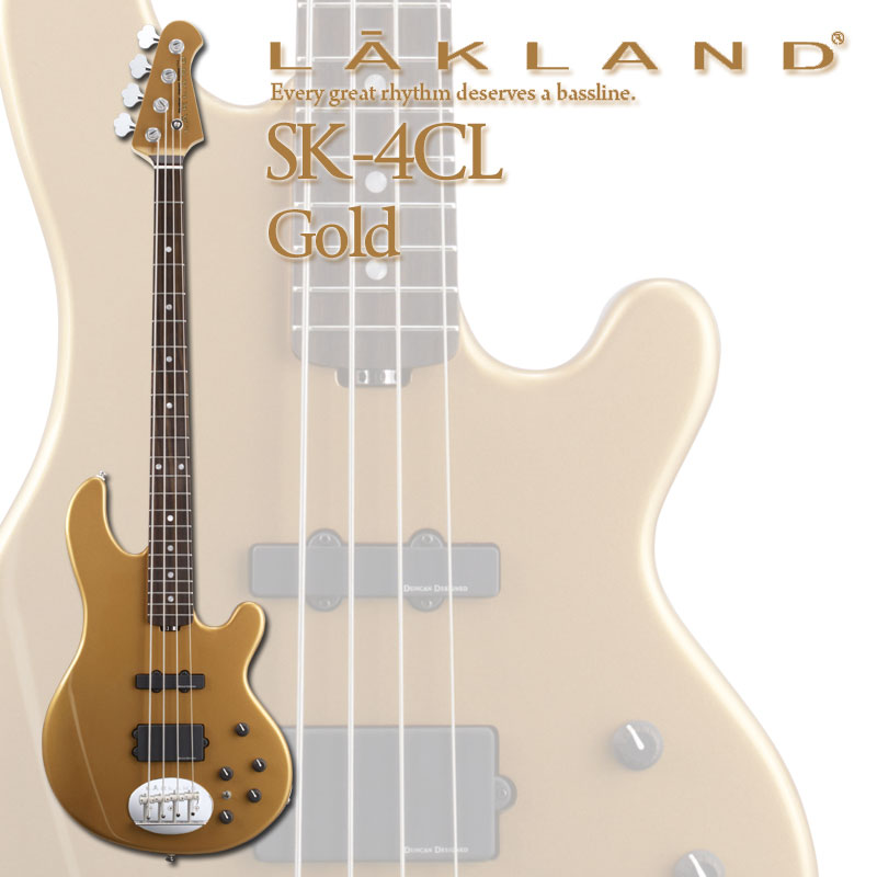 ベース, エレキベース LAKLAND Skyline Japan Series SK-4CLR (Gold)ONLINE STORE