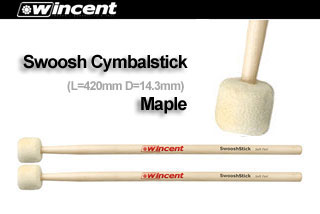ドラム, スティック Wincent Cymbalmallets W-Swoosh (Selected Canadian Maple) 10 smtb-uONLINE STORE