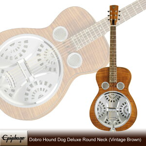 Dobro Hound Dog Deluxe Round Neck [Vintage Brown]
