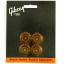 Gibson Gear Top Hat Knobs - Vintage Amber 4/Pkg [PRHK-030] 《パーツ・アクセサリー/ ハットノブ 》【ギブソン純正】【ONLINE STORE】