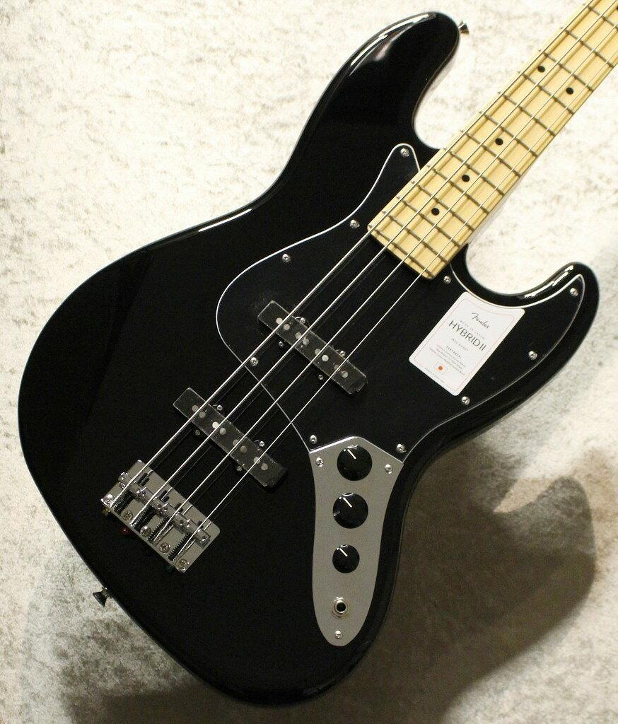 ベース, エレキベース Fender Made in Japan Hybrid II Jazz Bass Maple Fingerboard -Black- JD210121884.01kg