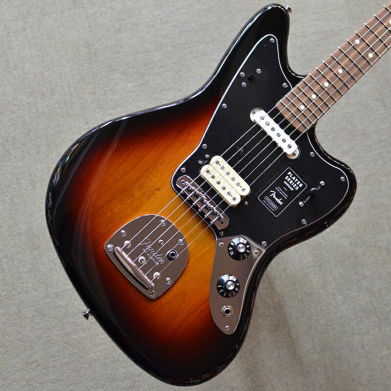 ギター, エレキギター Fender Player Jaguar 3-Color Sunburst MX19119916 3.71kg