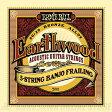 ERNIE BALL #2061 Earthwood 5-String Banjo Frailing Loop End 80/20 Bronze Acoustic Guitar Strings《バンジョー弦》【ネコポス】