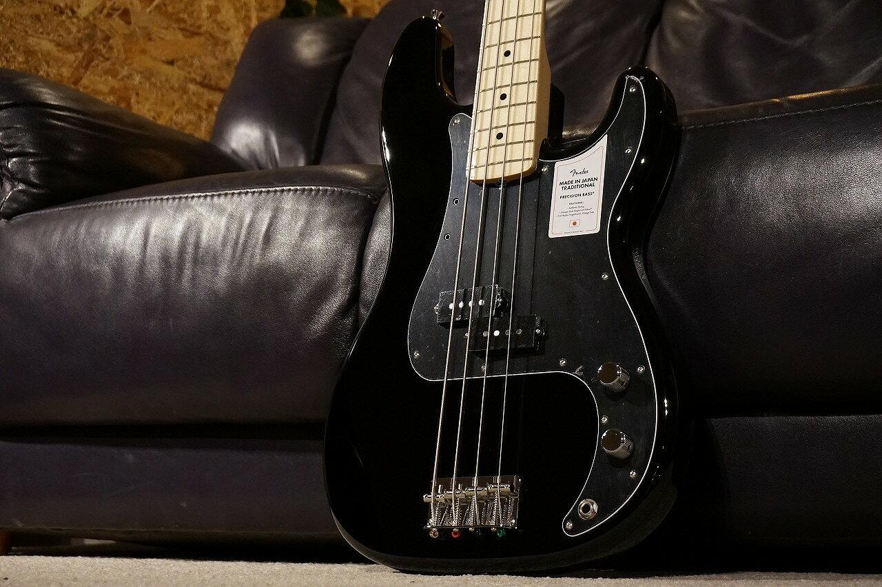 ベース, エレキベース Fender !!3.43kg2021 Collection Made in Japan Traditional 70s Precision Bass -Black-NEW