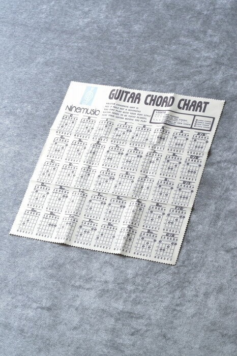 Nine music CL202 YLW(イエロー) -Microfiber Guitar Clothes/Guitar Chord Chart- 《マイクロファイバークロス》 【ONLINE STORE】